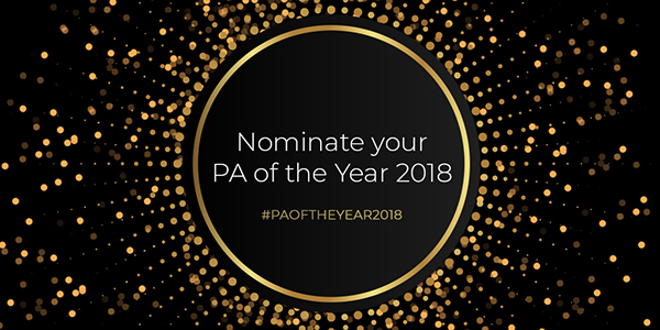 Apply now for PA of the Year 2018