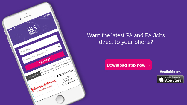 SecsintheCity launch PA and EA jobs app