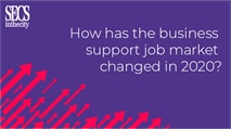 How did the business support profession change in 2020?