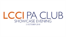 LCCI PA Club Showcase Evening | October 2018